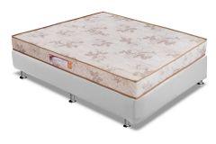Conjunto Cama Box - Colchão Paropas de Espuma D33 Pasquale  + Cama Box Universal Couríno White