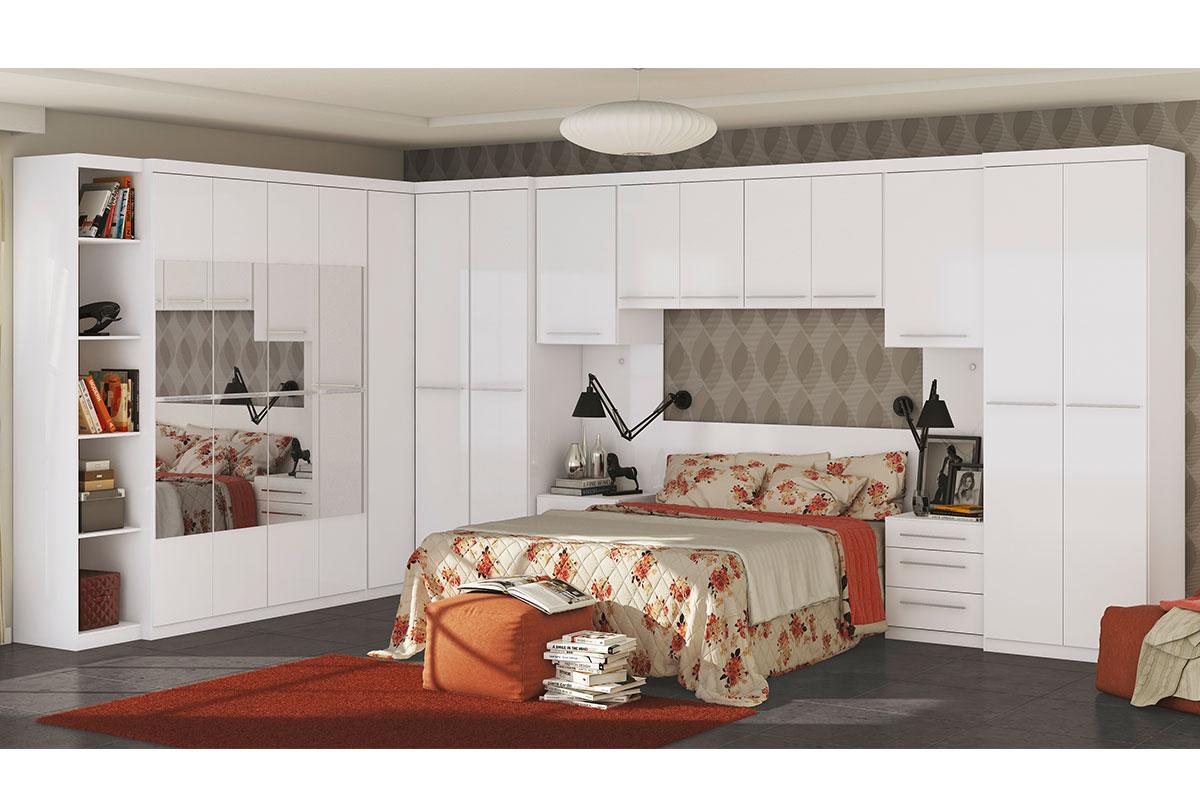 Quarto de casal modulado kappesberg smart completo c 13 for Conjunto de dormitorio completo