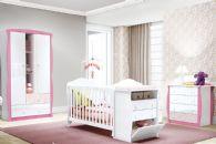 Quarto Infantil (Bebê) Completo Henn Arco Íris QI11 (Guarda Roupa+Berço+Cômoda)