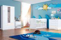 Quarto Infantil (Bebê) Completo Henn Sonho Encantado QI12 (Guarda Roupa+Berço+Cômoda)