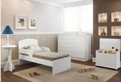 Quarto Infantil (Bebê) Completo Multimóveis Minicama QI40 (Minicama+Cômoda+Báu+Mesa)