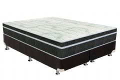 Cama Box Base Universal Ortobom  Couríno Nero Black 0.20