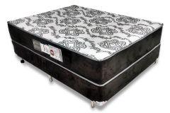 Conjunto Cama Box - Colchão Luckspuma de Espuma Eclypse 80  Pró Saúde + Cama Box Universal Nobuck Black