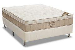Conjunto Cama Box - Colchão Ortobom de Molas Nanolastic Elegant + Cama Box Universal Couríno White