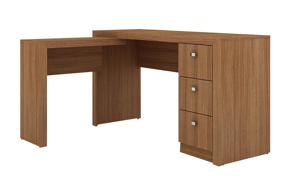 Mesa p escrit rio tecno mobili me 4101 de canto em l for Mesa escritorio l
