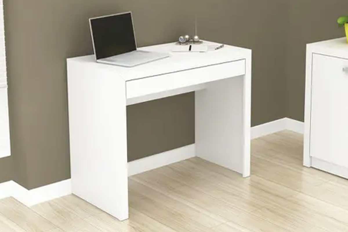 Mesa p/ Computador/Escrivaninha Tecno Mobili ME 4107 c/ 1 Gaveta  #4D2D1A 1200x800