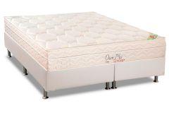 Conjunto Cama Box - Colchão Orthocrin Ortopédico Orthoclínico Ouro Plus Eurotop + Cama Box Universal Couríno White