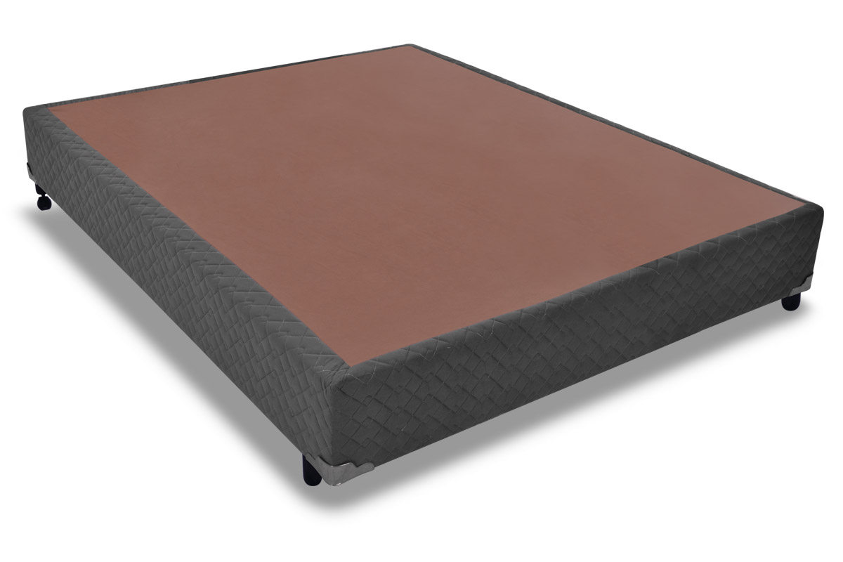 Cama Box Base Probel Suede Ônix