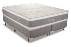 Conjunto Cama Box - Colchão Polar de Molas Pocket Serenatta + Cama Box Universal Couríno White