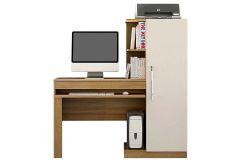Escrivaninha p/ Computador Valdemóveis Office c/ 1 Porta e Suporte CPU