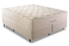 Conjunto Cama Box - Colchão Herval de Molas LFK Nature Soft + Cama Box Universal Couríno White