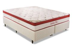 Conjunto Cama Box - Colchão Herval de Molas Pocket Latina Plus + Cama Box Universal Couríno White