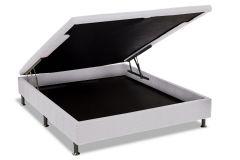 Cama Box Baú Ortobom Physical Tecido Bianco