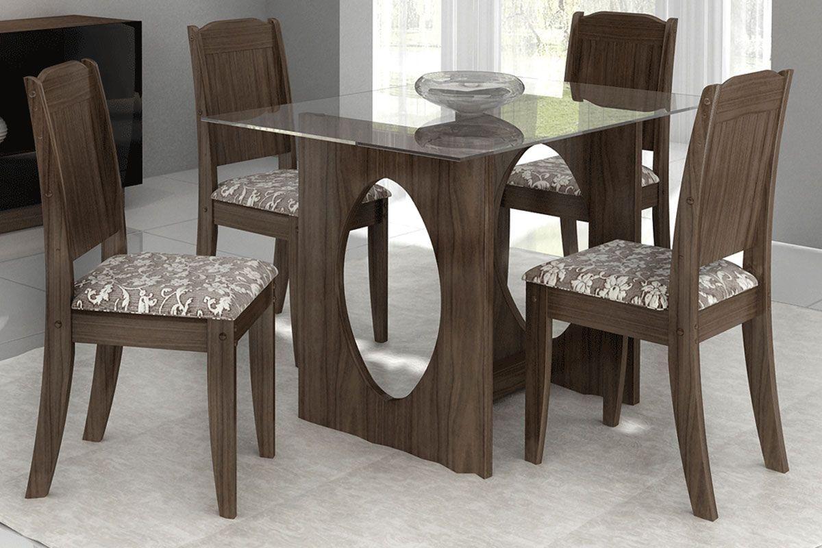 de Jantar Conjunto Mesa de Jantar Cimol Jéssica 120cm   4 Cadeiras #3D3127 1200x800