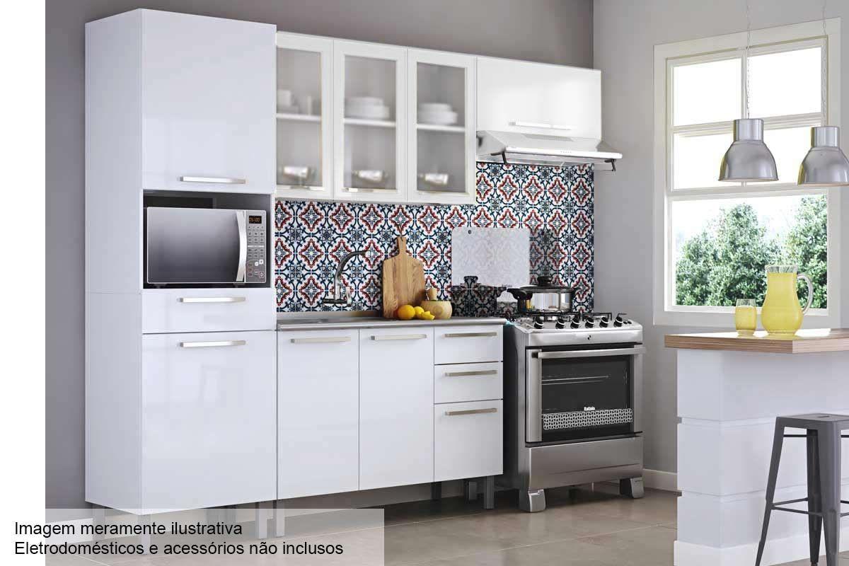 Cozinha Completa Itatiaia Dandara De A O C 4 Pe As Paneleiro 2