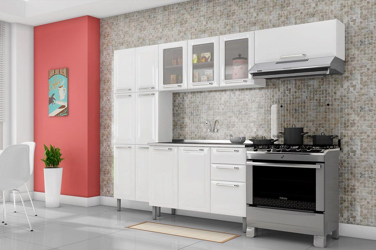 b524be2f2d Cozinha Completa Itatiaia Tarsila de Aço c  4 Peças (Paneleiro+2 Armários+  ...