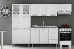 Cozinha Completa Itatiaia Itanew de Aço c/ 4 Peças  (Paneleiro+2 Armários+Gabinete) Kit CZ76