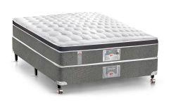 Colchão Castor de Molas Pocket Silver Star Híbrido Aria 3D Euro Pillow
