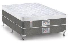 Conjunto Cama Box - Colchão Castor de Molas Pocket Silver Star Aria 3D + Cama Box Universal Nobuck Black
