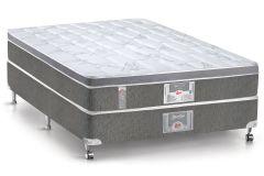 Conjunto Cama Box - Colchão Castor de Molas Bonnel Silver Star Aria 3D + Cama Box Base Universal Nobuck Black