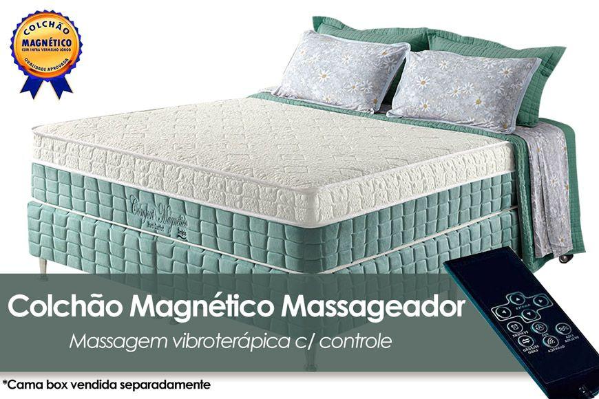 Colchão Anjos Confort Magnético Terapêutico c/ Infravermelho e Massagemn Casal - 1,38x1,88x0,32