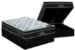 Cama Box Baú Ortobom Couríno Nero Black