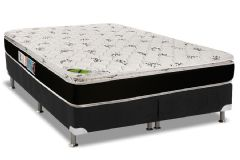 Cama Box Base Americana Nobuck Nero Black 23