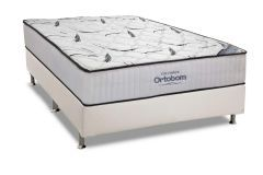 Conjunto Box - Colchão Hight Foam Ortobom  + Cama Box Universal Couríno White