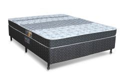Conjunto Box - Colchão Castor Molas Bonnel Class Slim + Cama Box Universal Nobuck Black